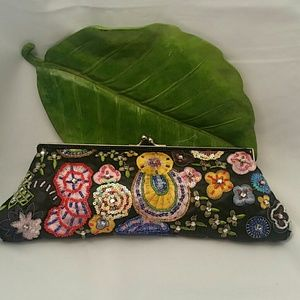 New York & Company Sequined Clutch Purse